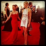 A gorgeous Prada-clad Gwyneth Paltrow made her way down the Met Gala red carpet.