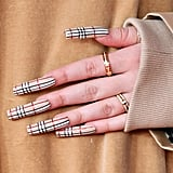 Billie Eilish Rocked Burberry Nail Art at 2020 BRIT Awards
