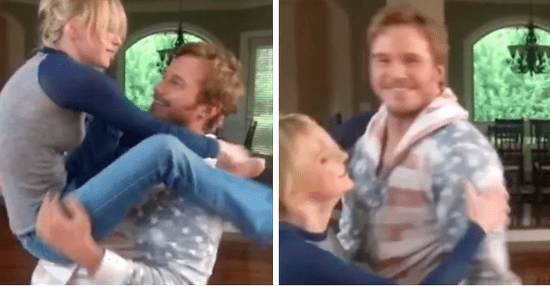 Anna Faris And Chris Pratt Learned A Wrestling Move And It's Kind Of Hot