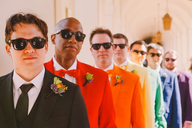 Multicolored Groomsmen Suits