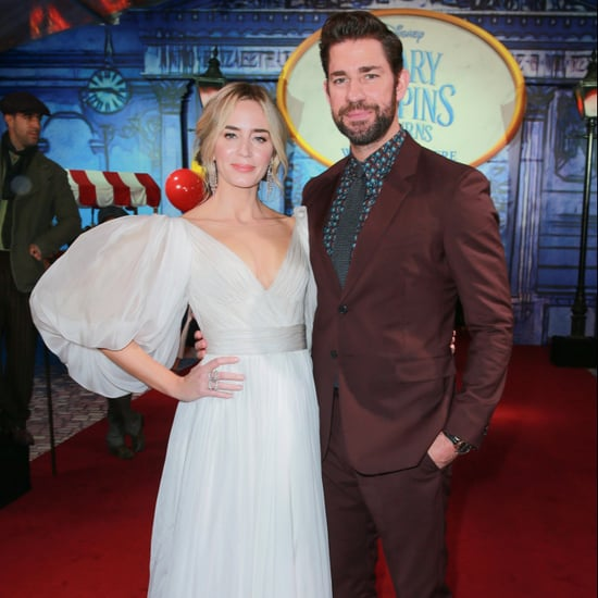 Emily Blunt and John Krasinski Mary Poppins Premiere Photos