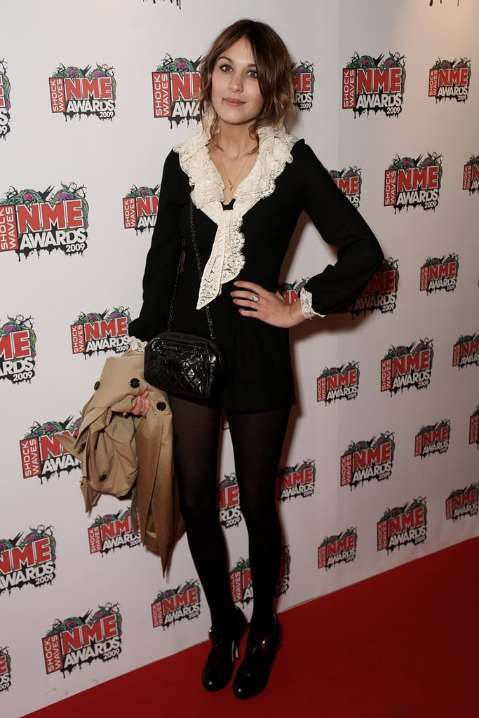 Black and white and ruffled at the 2009 Shockwaves NME Awards.