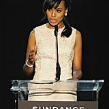 Kerry Washington took the stage at the Celebrate Sundance Institute Benefit in LA.