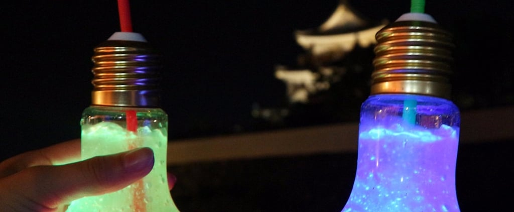 These Trendy Light Bulb Drinks in Asia Actually Glow in the Dark, and We're Obsessed