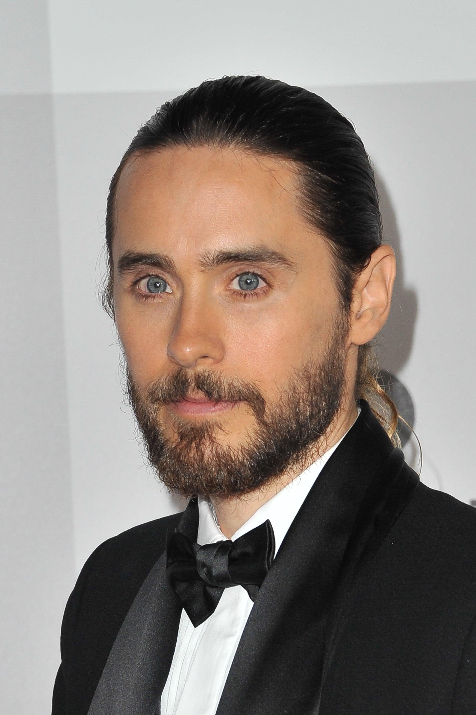 Jared Letos Hair In A Ponytail At Golden Globes 2014 Popsugar Beauty