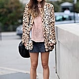 A flash of leopard print and a pair of brogues gave Rumi Neely cool-girl edge.