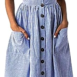 Angashion Striped Dress