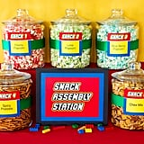 A snack bar was set up — with an adorable printable sign — for teachers and staff to nibble on throughout the week.