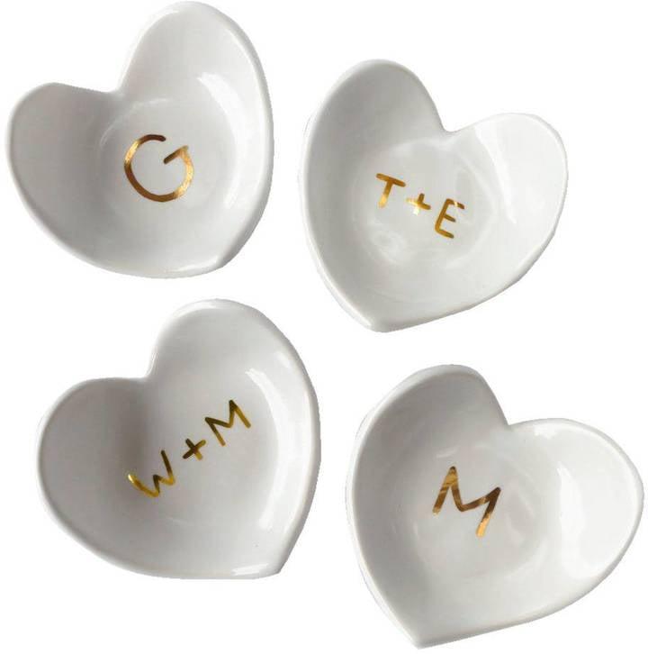 White Heart Ring Dish