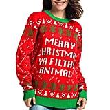 Ya Filthy Animal - Ho Ho Home Alone Sweater