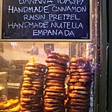 Plus, you can snack on tasty treats from the delicious pop-up eateries. Handmade cinnamon-raisin pretzels? Yes, please!