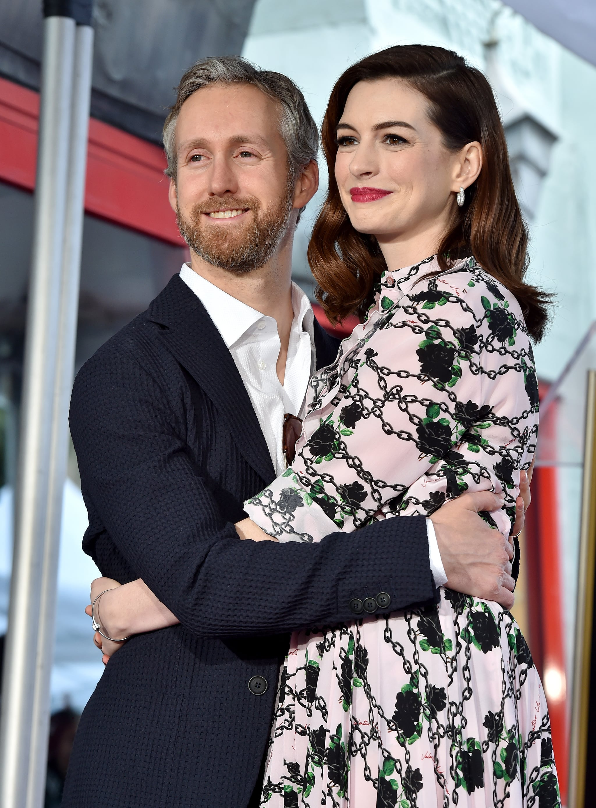 HOLLYWOOD, CALIFORNIA - MAY 09: Anne Hathaway and Adam Shulman attend the ceremony honouring Anne Hathaway with star on the Hollywood Walk of Fame on May 09, 2019 in Hollywood, California. (Photo by Axelle/Bauer-Griffin/FilmMagic)
