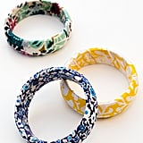Fabric-Wrapped Bangle Bracelets