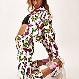 Jaded London White Butterfly Print Denim Jacket
