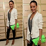 Selita Ebanks works a serious pop of color— and inspired a seriously hot night-out look.