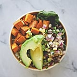 Vegan Burrito Bowl With Roasted Sweet Potatoes and Black Beans