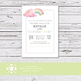 Modern Water Color Rainbow Baby Shower Invitation