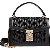 Miu Miu Confidential Matelassé Quilted Lambskin Leather Top Handle Bag