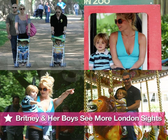 Britney and Her Boys See More London Sights