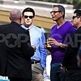 Jeff Goldblum and Cory Monteith were together on the set of Glee.