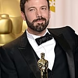 Ben Affleck gave smile in the press room at the Oscars.