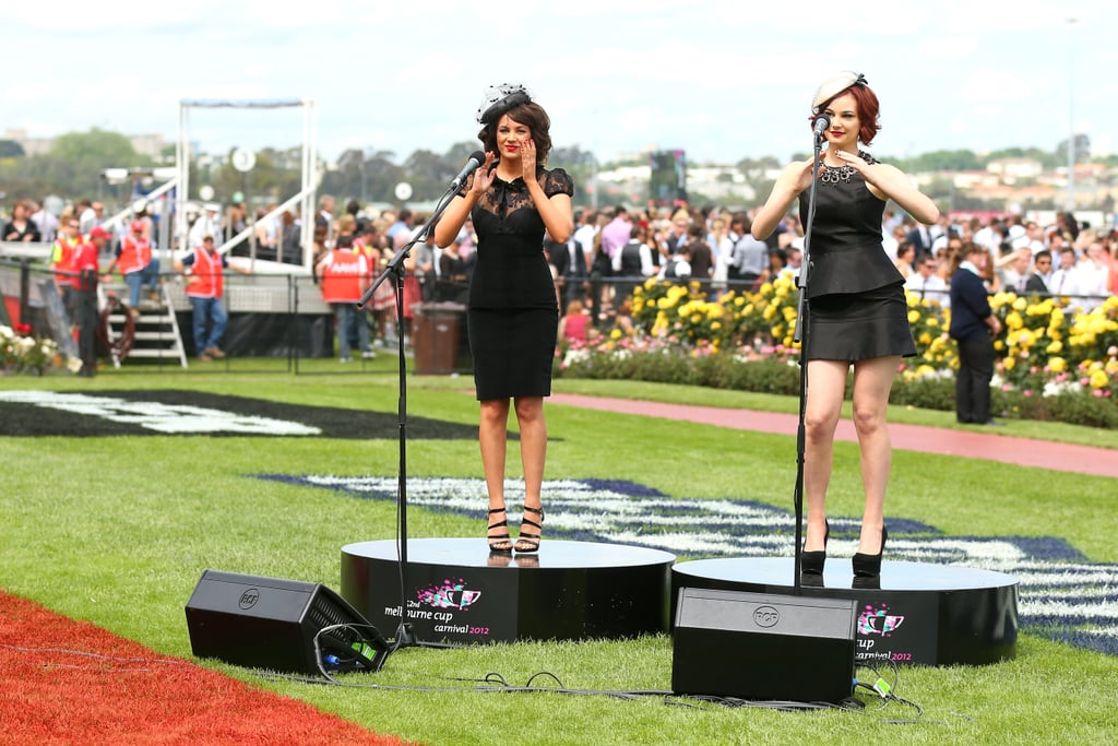 Samantha Jade and Bella Ferraro perform.