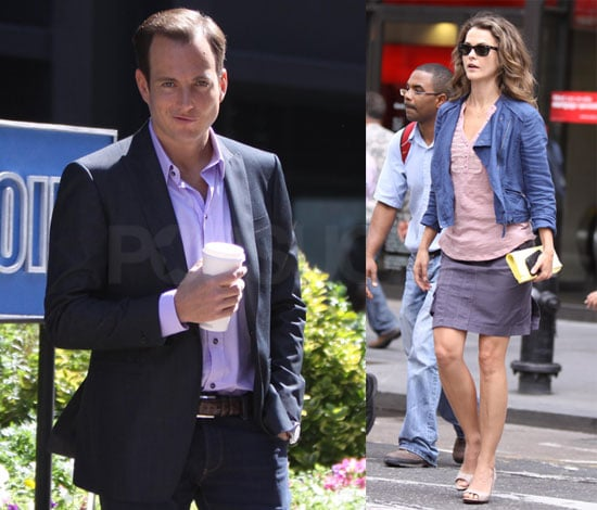 Pictures of Keri Russell and Will Arnett Fiming Running Wilde in New York