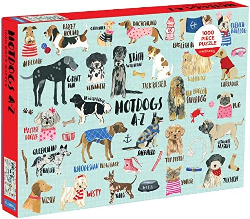 Mudpuppy Hot Dogs 1,000-Piece Dog Jigsaw Puzzle