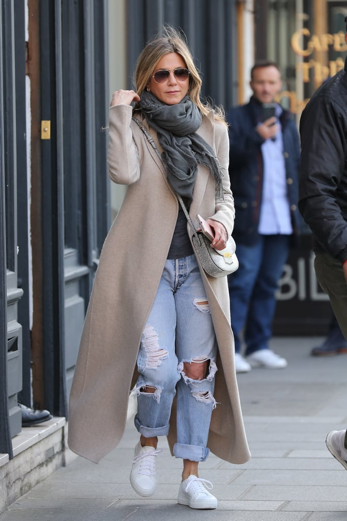 Jennifer Aniston Ripped Boyfriend Jeans