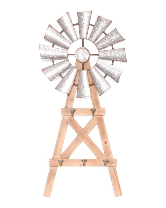 Windmill Wall Decor With Hooks
