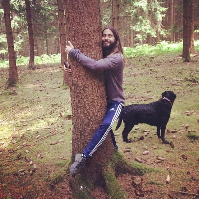 """Jared Leto embraced his """"tree-hugging hippie"""" side. Source: Instagram user jaredleto"""