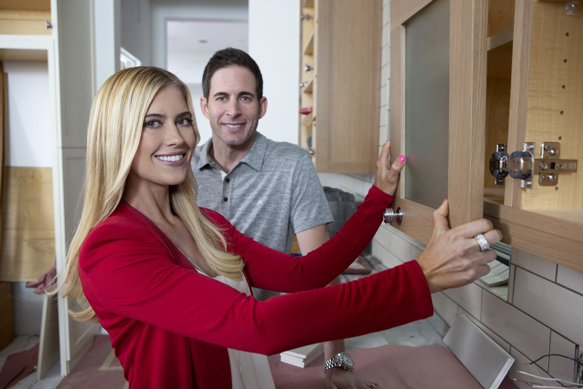 Los Angeles,  2017: 'Flip or Flop' hosts pose for a portrait session in November 2017 in Los Angeles, California,  (Photo by Aaron Rapoport/Corbis/Getty Images)