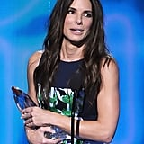 Sandra Bullock won favorite movie actress for Gravity.