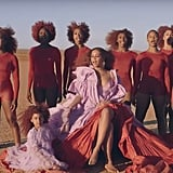 "Beyoncé's and Blue Ivy's Burgundy Hair in ""Spirit"" Music Video"