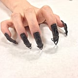 """Black castle"" nails. Source: Instagram user thelasergirls"