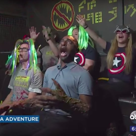 Reporter's Reaction to Guardians of the Galaxy Ride