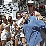 Orange Is the New Black's Danielle Brooks, Dascha Polanco, Samira Wiley, Yael Stone, Barbara Rosenblat, and Matt McGorry posed at their NYC gay pride event on Sunday.