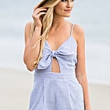 Morning Lavender Charlie Blue Striped Romper