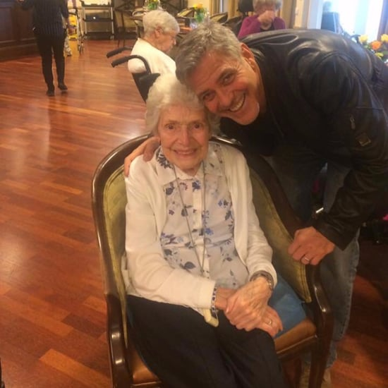 George Clooney Surprising Elderly Fan in England March 2017