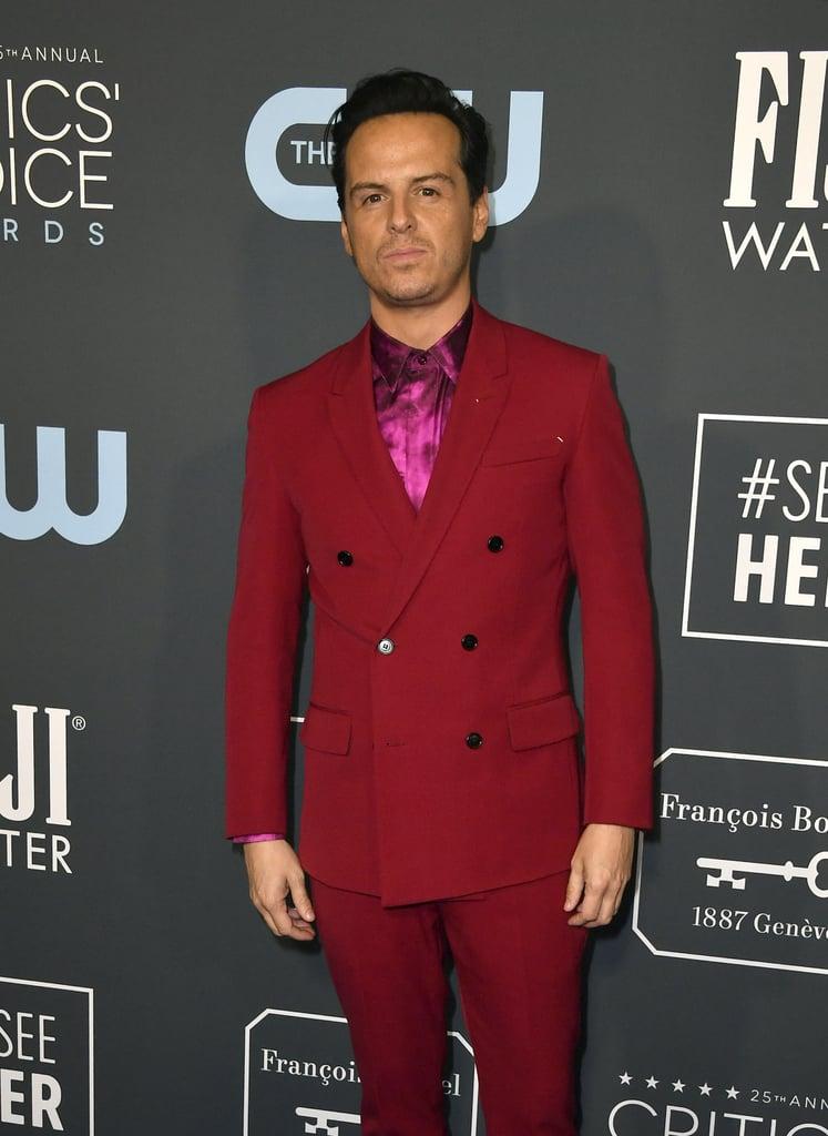 Beanie Feldstein's Red and Pink Critics' Choice Awards Dress
