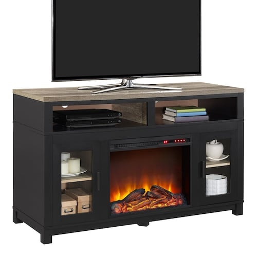 Ameriwood Carver Electric Fireplace Tv Stand Best Indoor