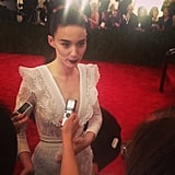 Rooney Mara spoke to press on the red carpet. Source: Instagram user modaoperandi