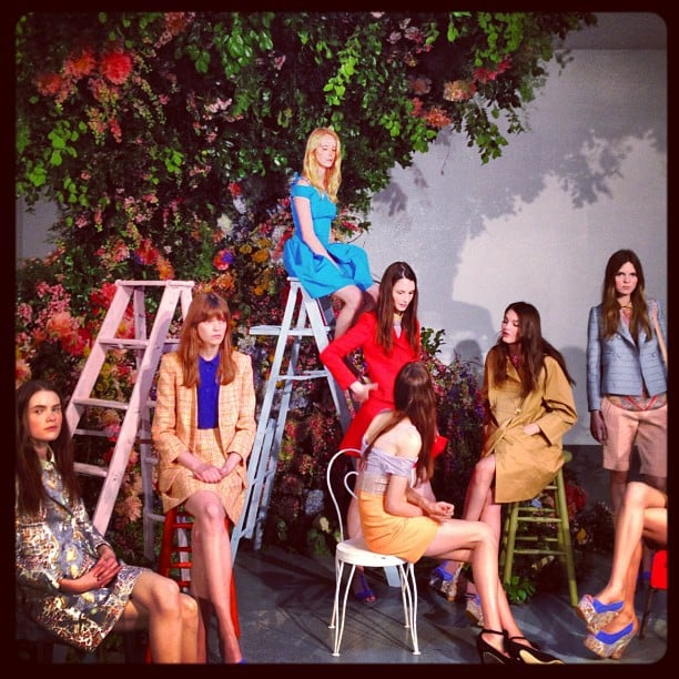 Carven showcased the prettiest resort collection in the prettiest way possible. How sweet is this setup?