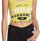 University of Today, Dreamers of Tomorrow Cropped Graphic Tank