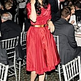 Anthony Weiner's wife, Huma Abedin, attended the benefit gala.
