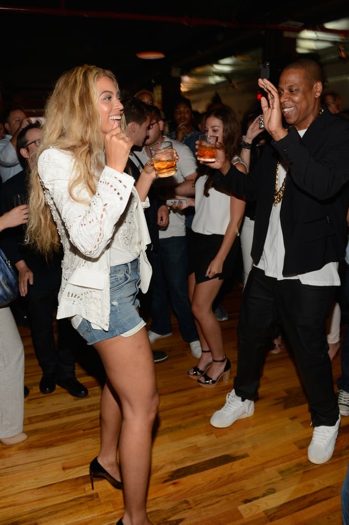 In July 2013, the she and her husband cut a rug at Jay Z's record release party in NYC.