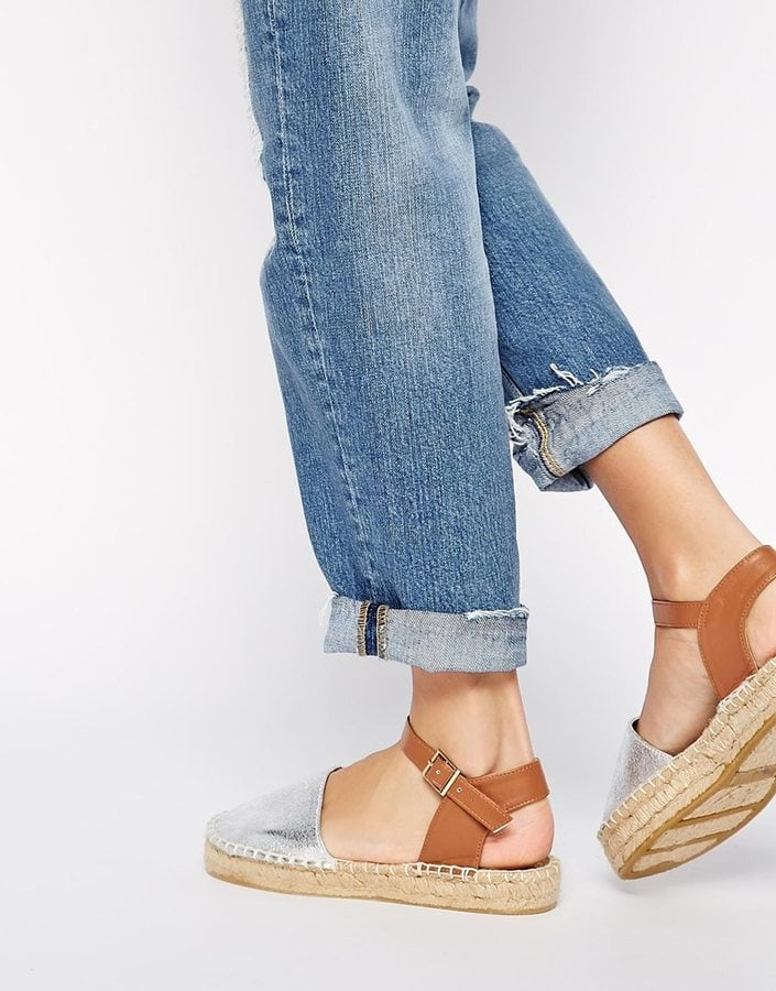 a2db48ae61f ASOS Jacy Closed Toe Two Part Espadrilles ($33) | Closed-Toe Sandals ...