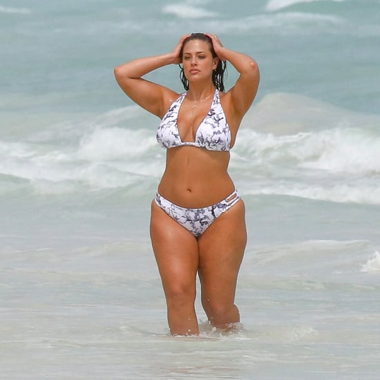 Ashley Graham in Bikini on the Beach in Mexico October 2016