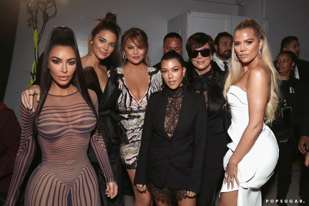 Pictured: Chrissy Teigen, Kris and Kendall Jenner, and Kim, Kourtney, and Khloé Kardashian