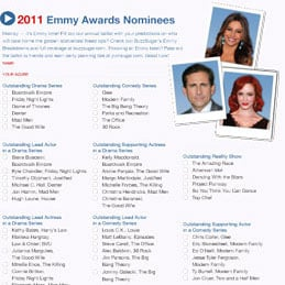 Printable 2011 Emmy Ballot